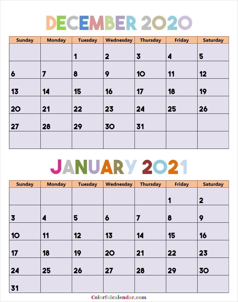 Editable December 2020 January 2021 Calendar | Blank 2020-December 2020 And January 2021 Calendar