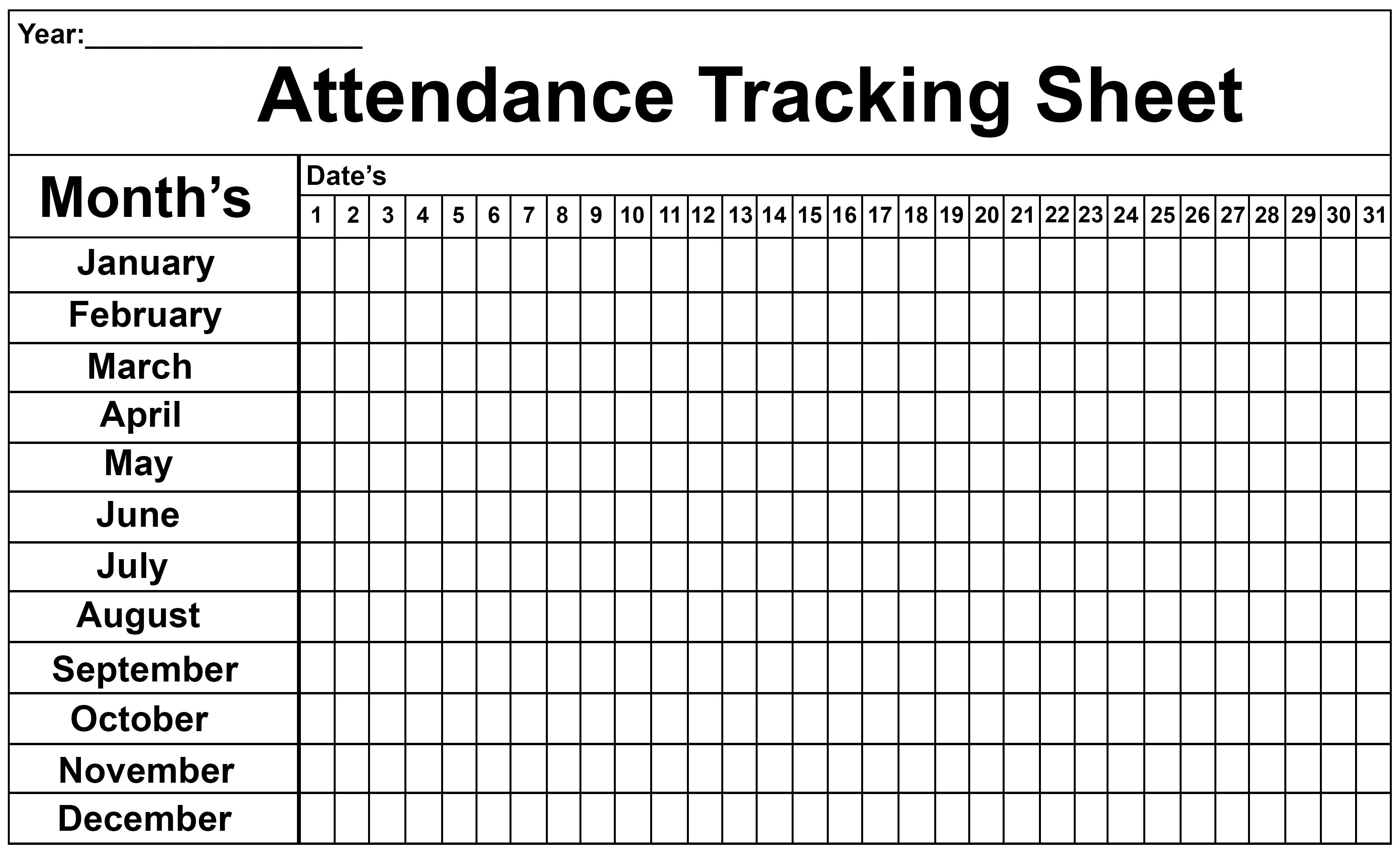 Employee Attendance Tracker Sheet 2019 | Printable Calendar Diy-2020 Attendance Tracker Template
