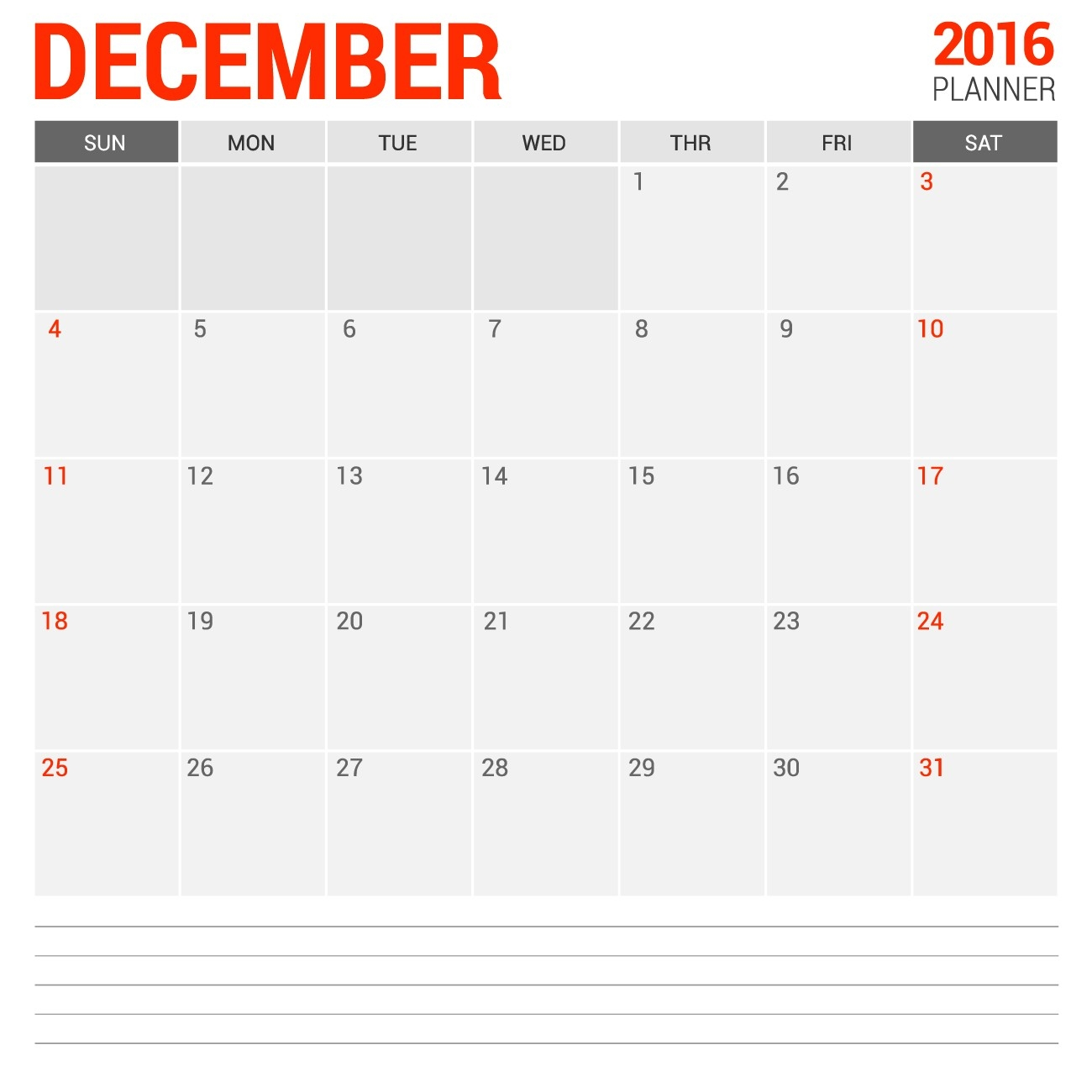 Empty Blank Calendar For December 2016 | Calendars 2018-A Blank Page Of 31 Days Of A Calendar