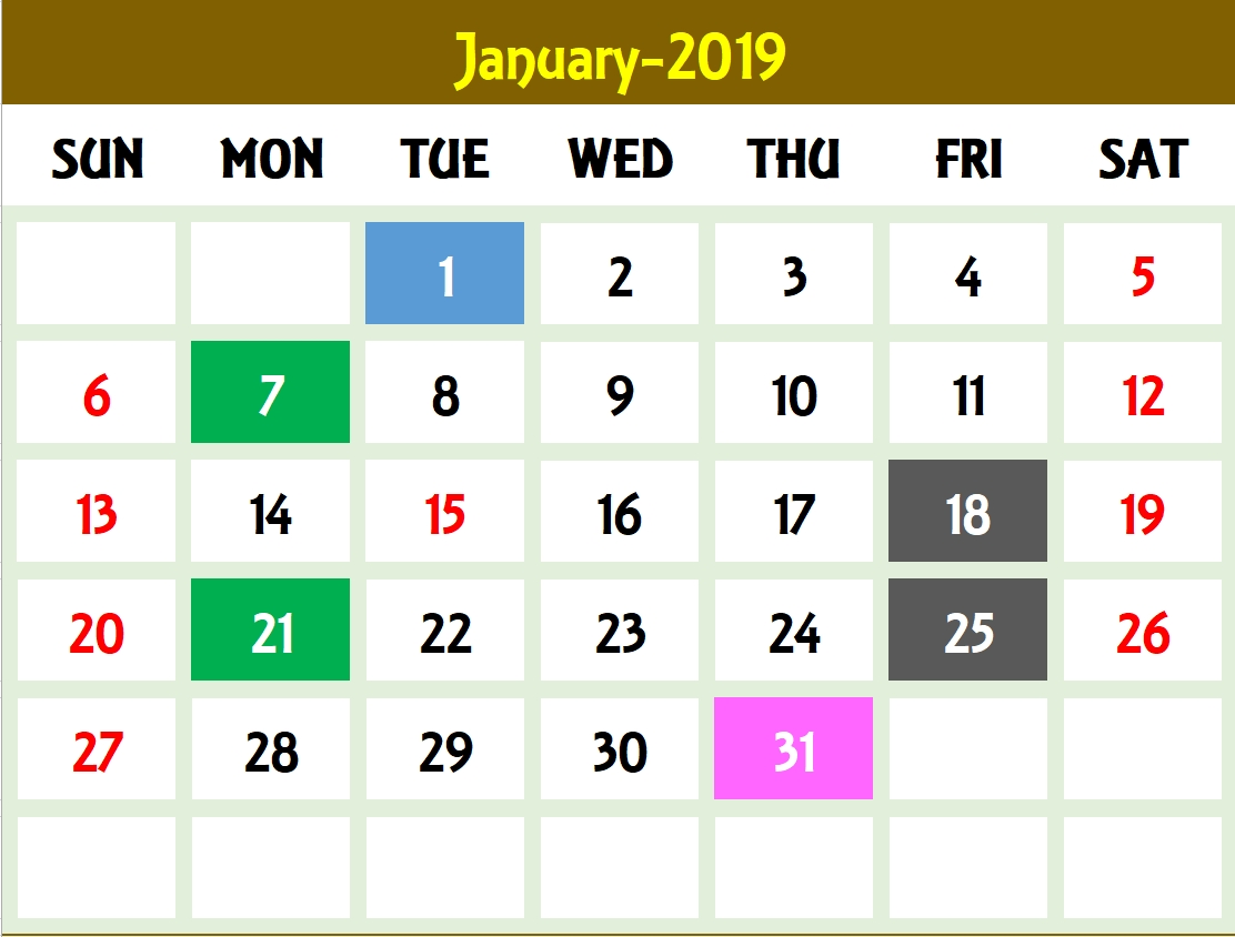 Excel Calendar Template - Excel Calendar 2019, 2020 Or Any Year-4 Month Excel Calendar 2020 Template