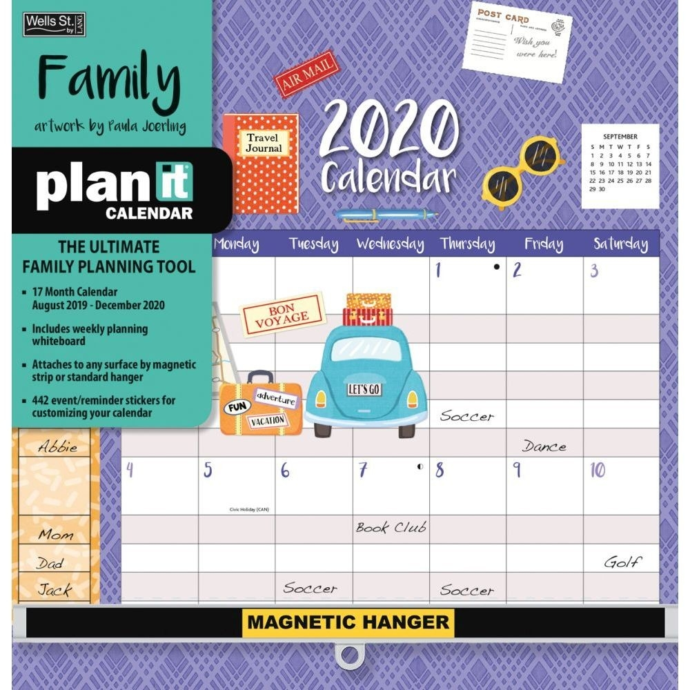 Family Plan It Plus 2020 Wall Calendar-2020 Monthly Calendars With Time Slots