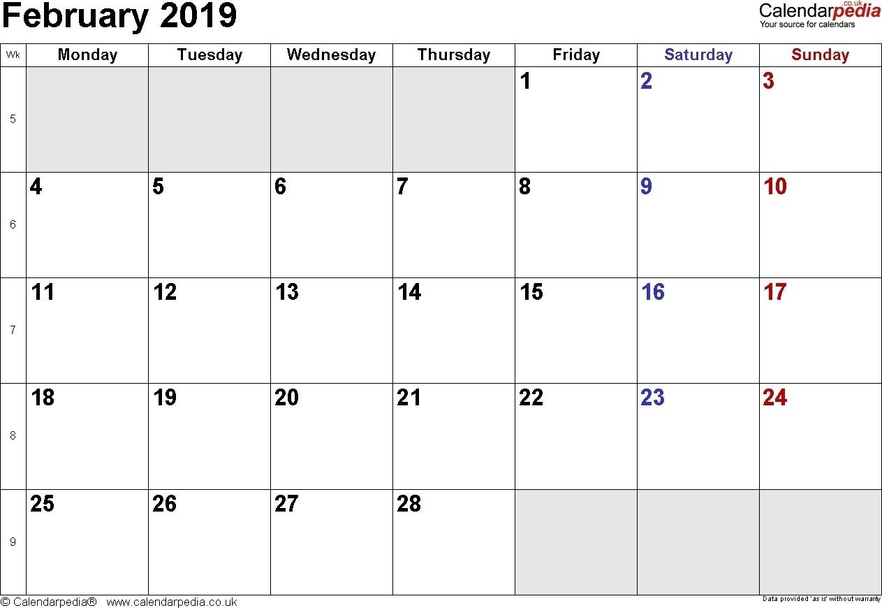 February 2019 Calendar Philippines With Holidays | February-Calendar Template With Philippine Holidays