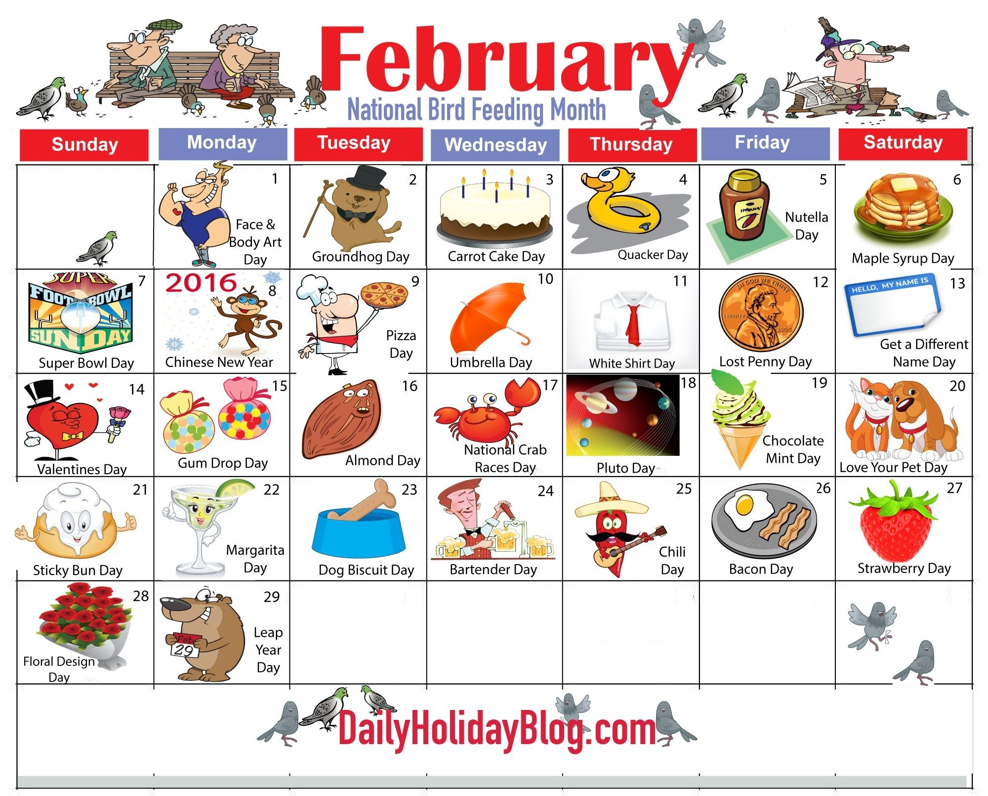 February Holiday Calendar | Family (Fun) Life! | Holiday-Calendar Holidays Special And Wacky Days