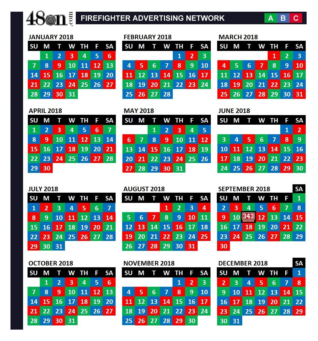 Firefighter Shift Calendar 24 On 48 Off - Parfu.kaptanband.co-Firefighter Shift Calendar Template