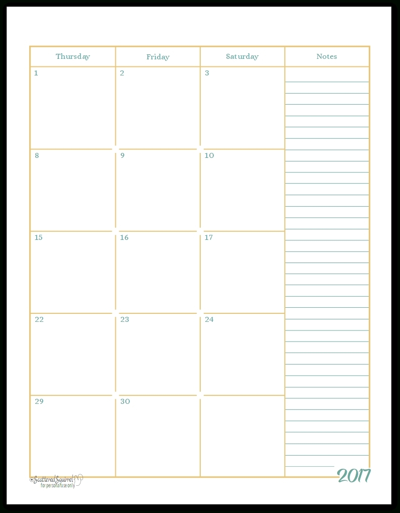 Free 2 Page Monthly Calendar Template • Printable Blank-Monthly Calendar Printable 2 Page
