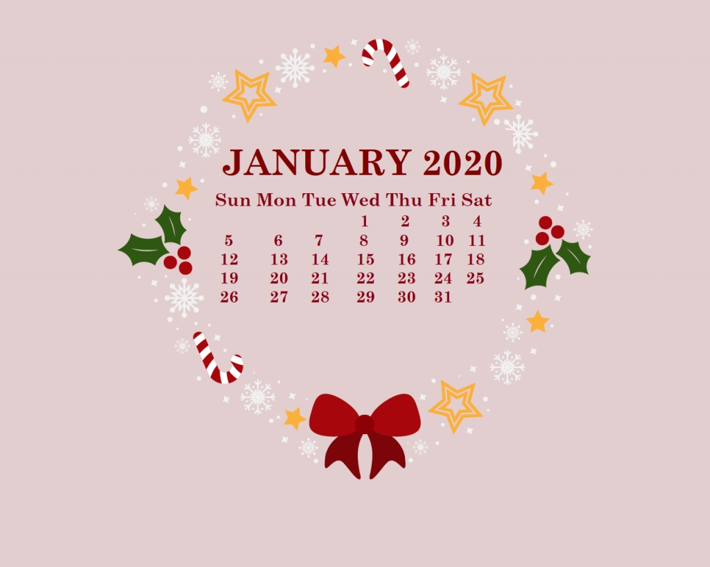 Free 2020 Hd Calendar Wallpaper-January 2020 Calendar Wallpaper