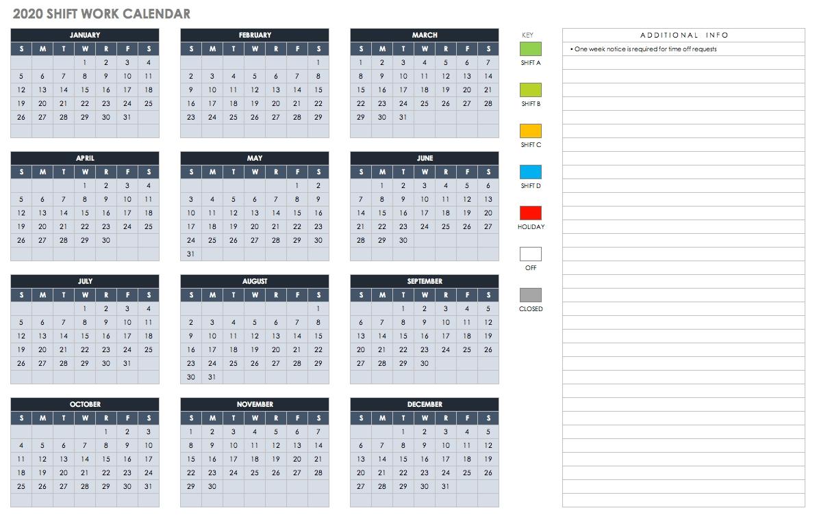Free Blank Calendar Templates - Smartsheet-Monthly Calender 2020 Organizer For Bills