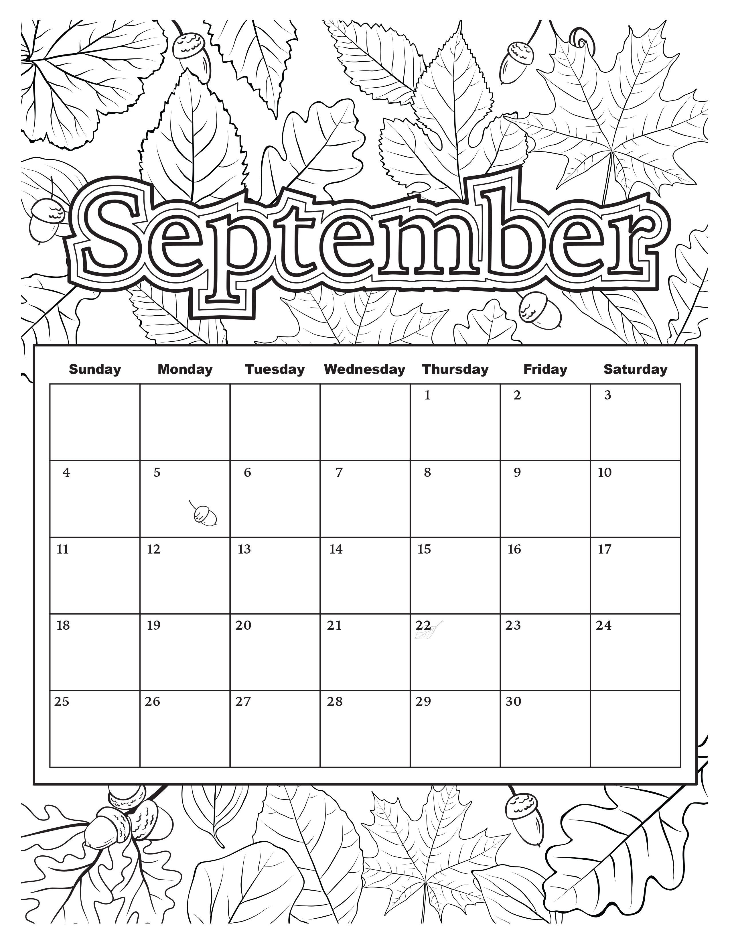 Free Download: Coloring Pages From Popular Adult Coloring-Lotus Notes Print Blank Calendars