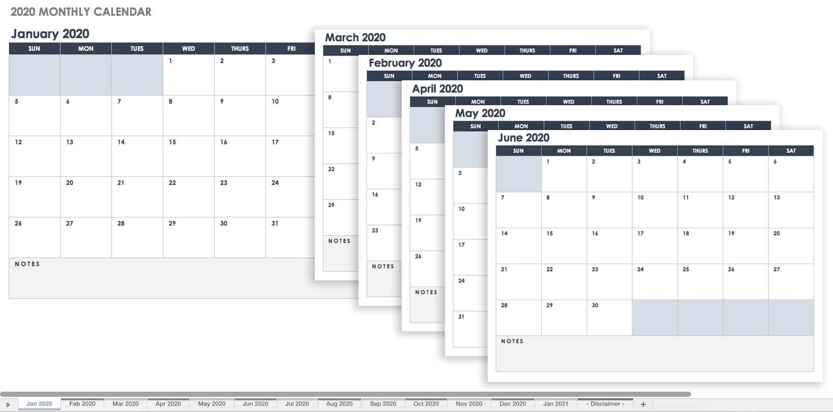 Free Google Calendar Templates | Smartsheet-Blank Month Calendar Page