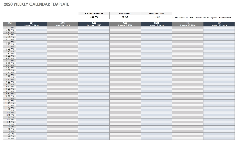 Free Google Calendar Templates | Smartsheet-Calendar Template Google Sheets