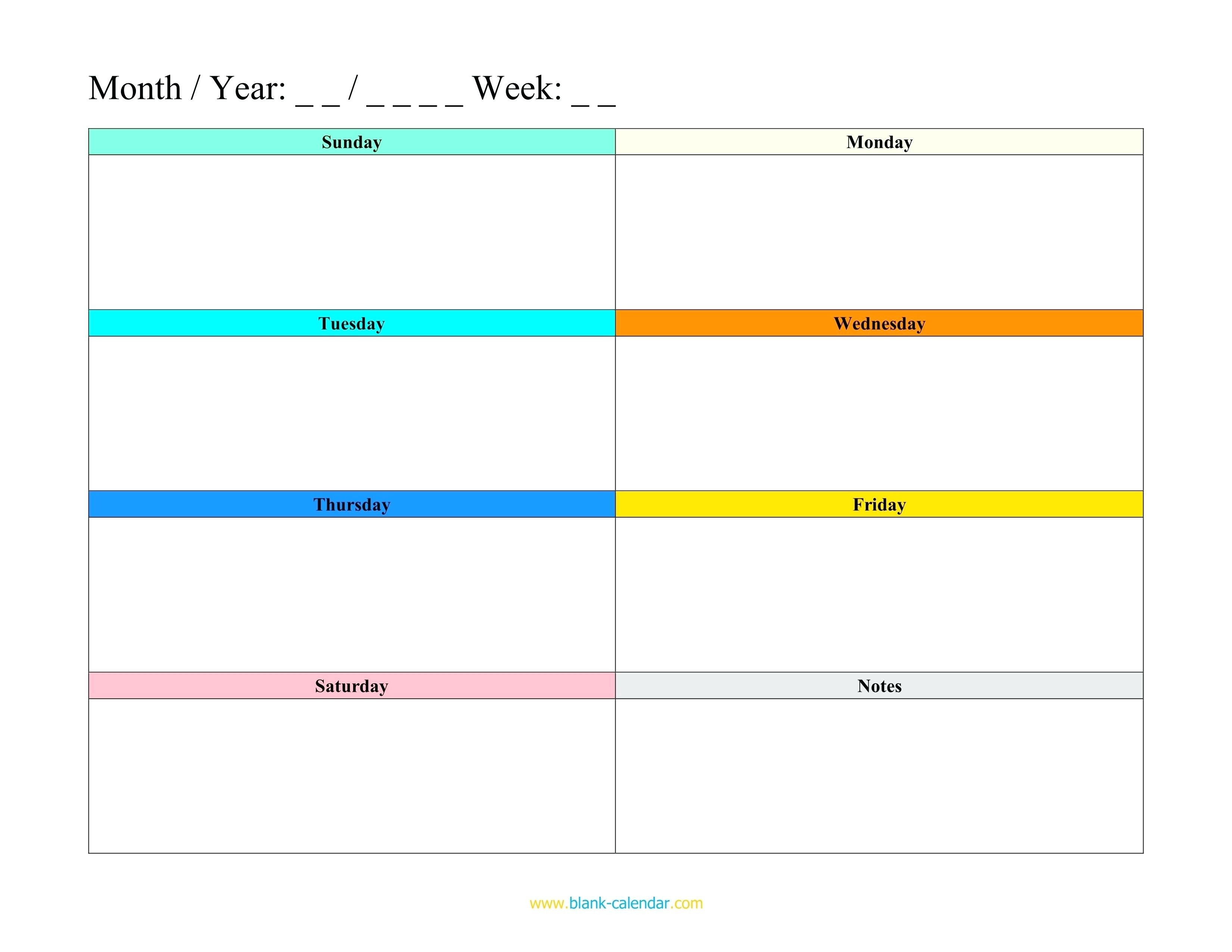Free Lesson Plan Template – Verypage.co-Blank Lesson Plan Calendar Template