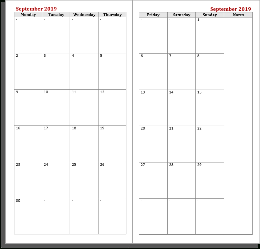 Free Midori Tn Calendar (Diary  - My Life All In One Place-Monthly Calendar Print Out For Notebooks