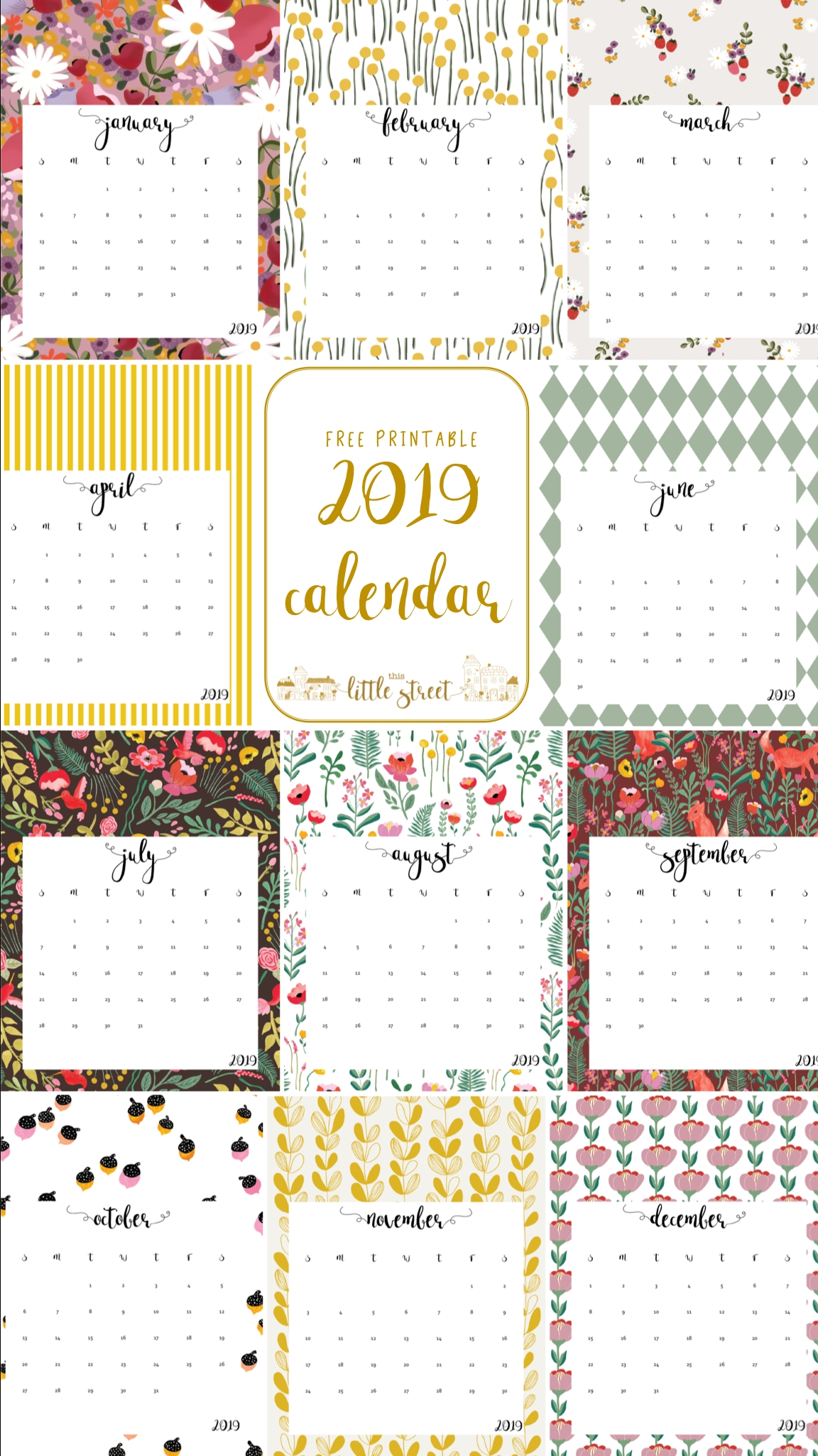 Free Printable 2019 Calendar.   Calendars   Free Printable-Free Printable 4X6 Calendars 2020 Templates