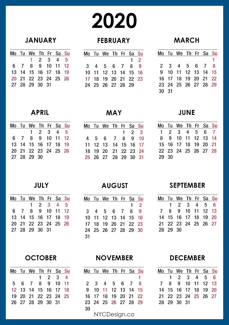 Free Printable 2020 Calendar With Holidays South Africa Free-2020 Calendar With Holidays South Africa