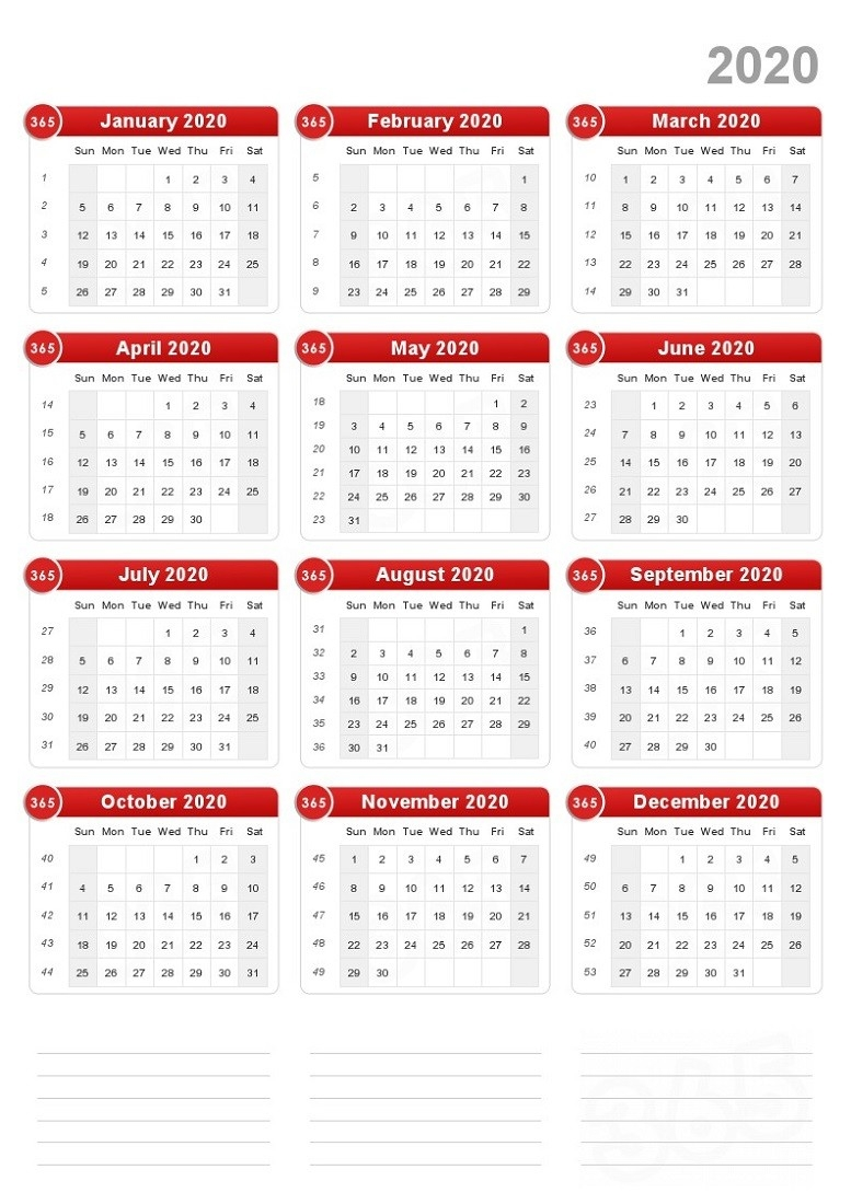 Free Printable 2020 Yearly Calendar For Free Usage-Calendar Template Calendarlabs 2020