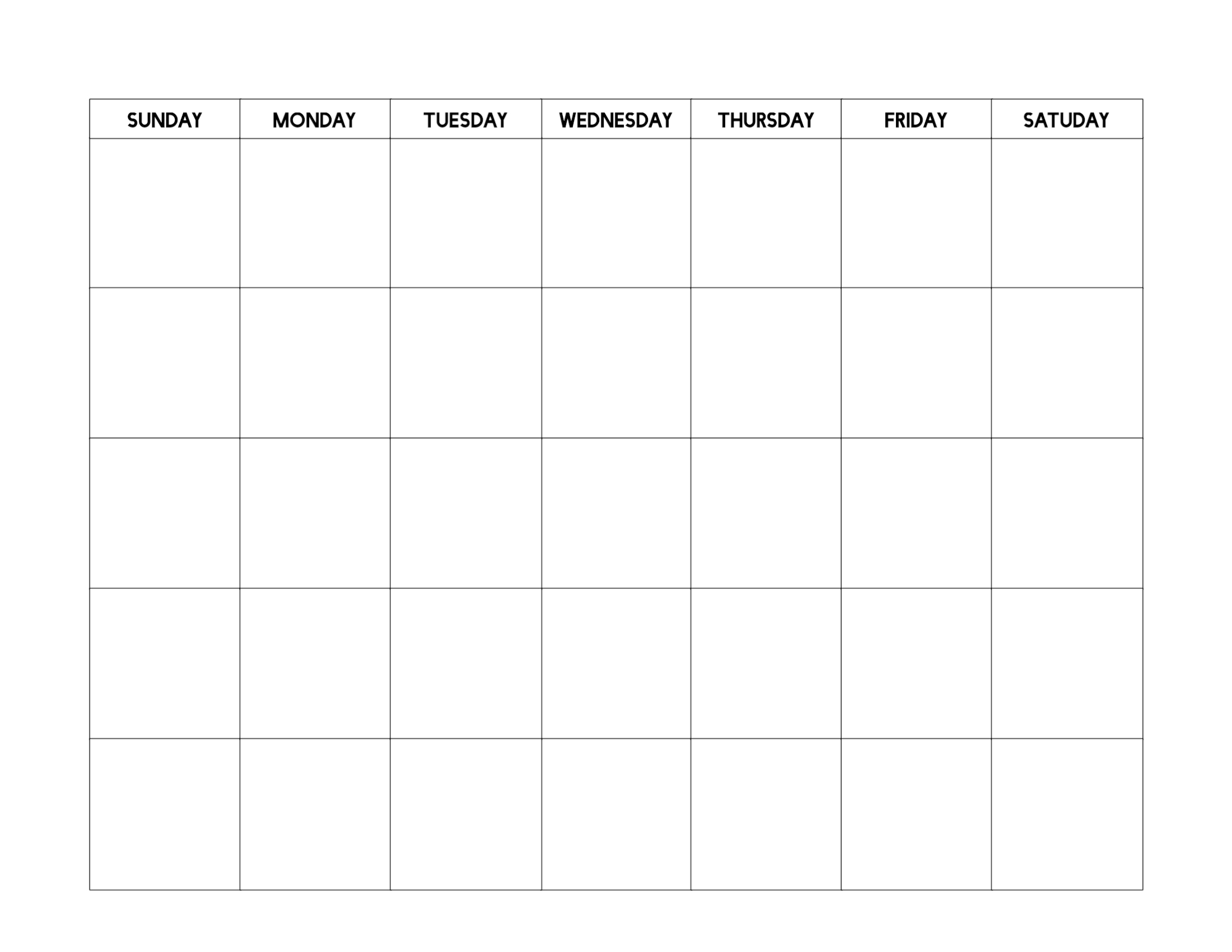 Free Printable Blank Calendar Template - Paper Trail Design-Printable Blank Calendar Sheets