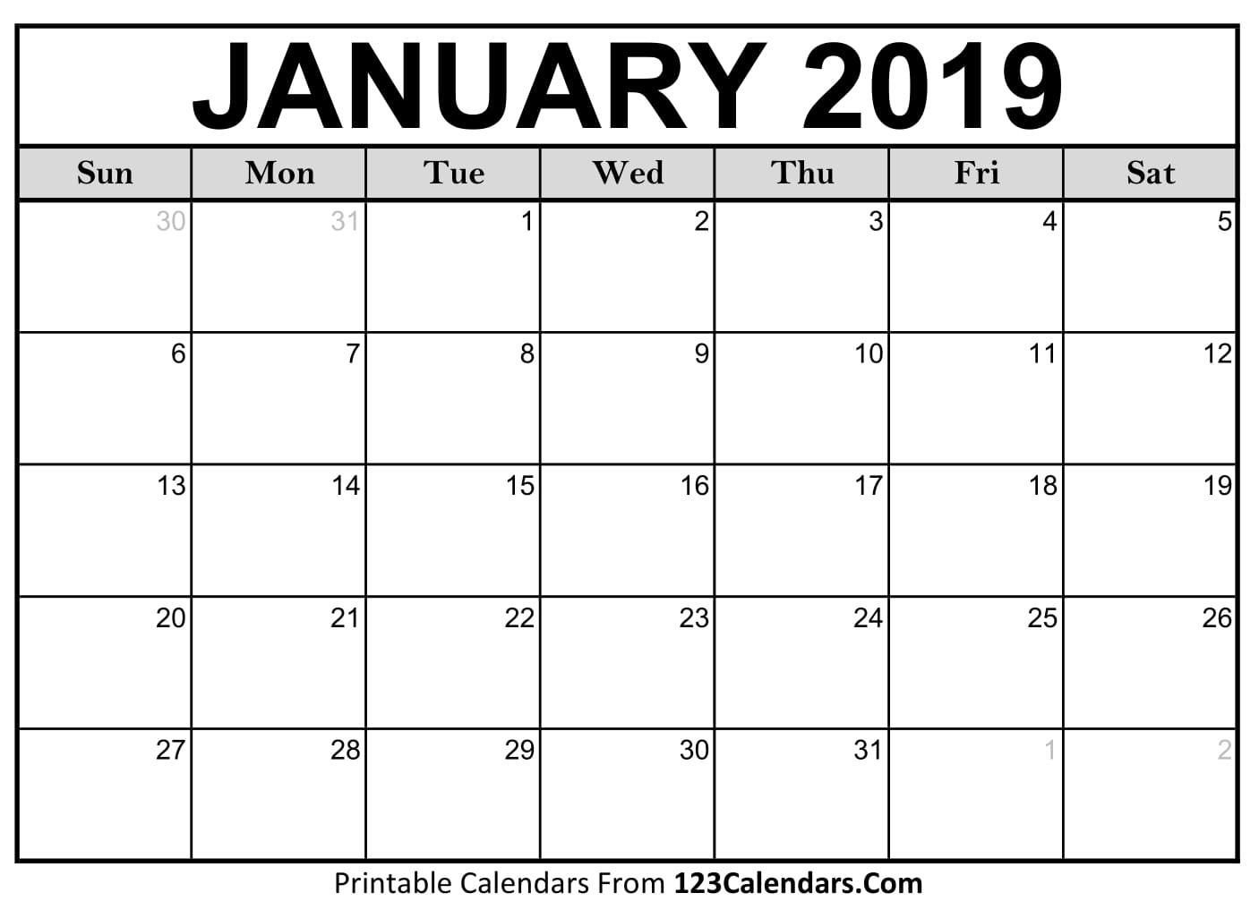 Free Printable Calendar | 123Calendars-January 2020 Calendar Nz