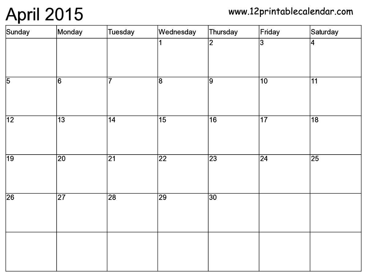 Free Printable Calendar Templates Month | 2015 Calendar-Free Calendar Template Printable 201