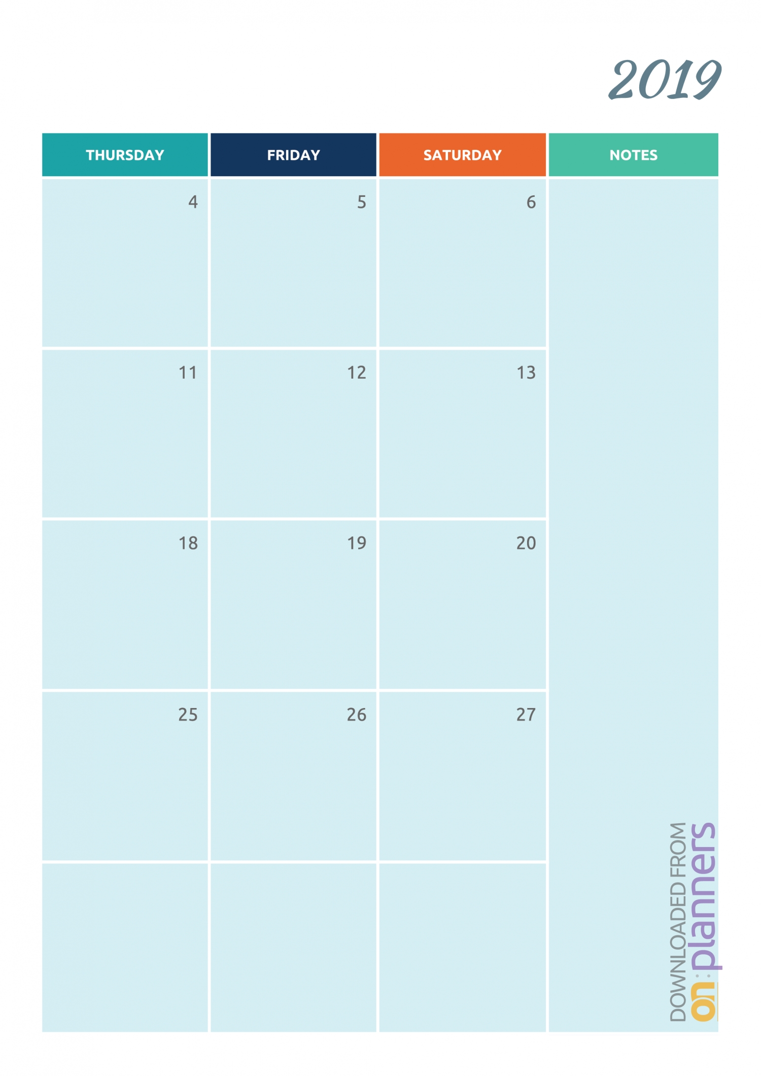 Free Printable Colorful Monthly Calendar Pdf Download-Blank Calendar 2020 Printable Monthly Payday Bills And Due Date