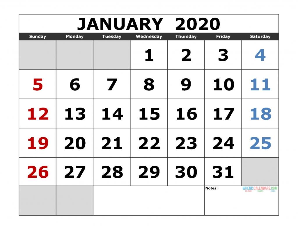 Free Printable Monthly Calendar 2020 Excel, Pdf, Image [Us-2020 Calendar Printable Major Jewish Holidays