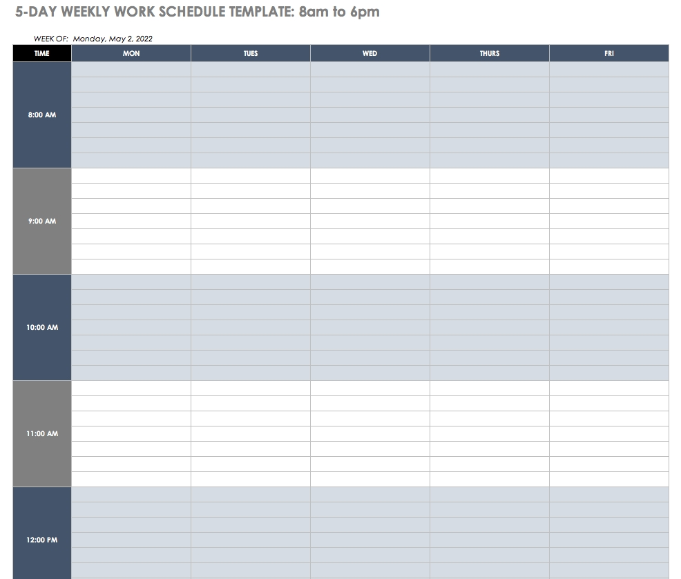 Free Work Schedule Templates For Word And Excel |Smartsheet-12 Hour Shift Calendar Templates