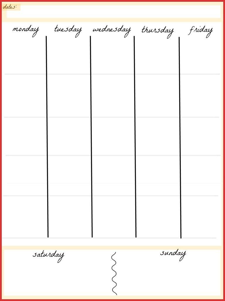 Fresh 5 Day Calendar Template | Job Latter-5 Day Calendar Template