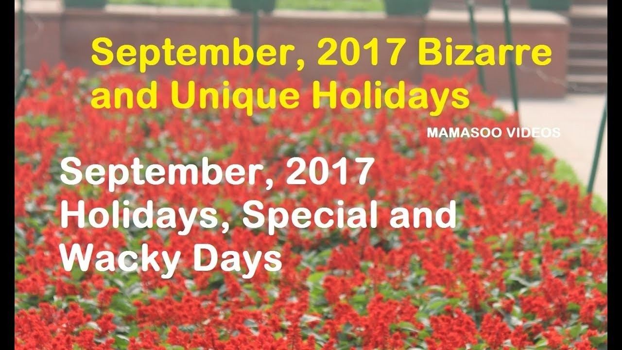 Funny National Holidays In September | Madinbelgrade-Calendar Holidays Special And Wacky Days
