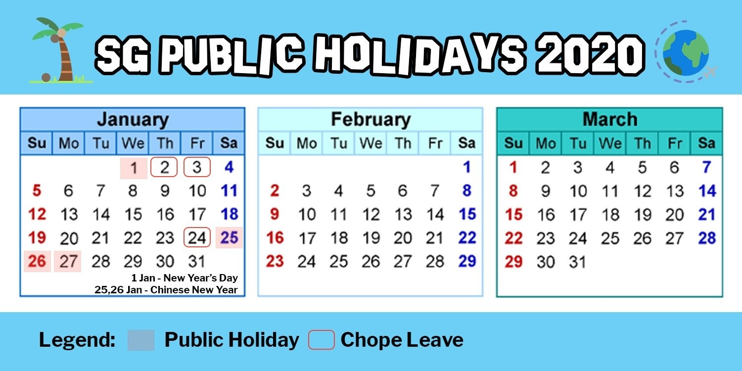 Hack Singapore Public Holidays In 2020 By Using 11 Days Of-2020 Calendar With Public Holidays