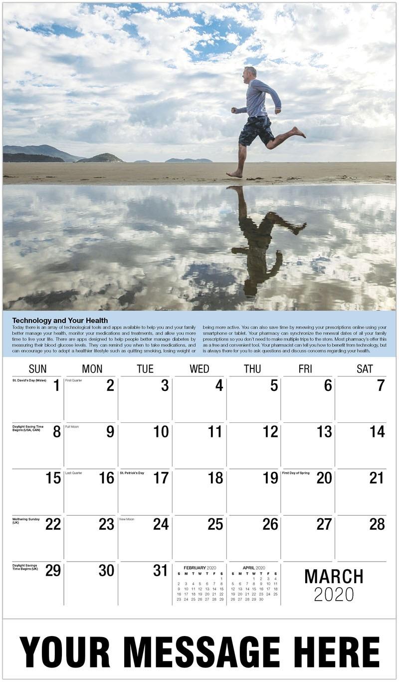 Health Tips-Monthly Wellness Calendar 2020