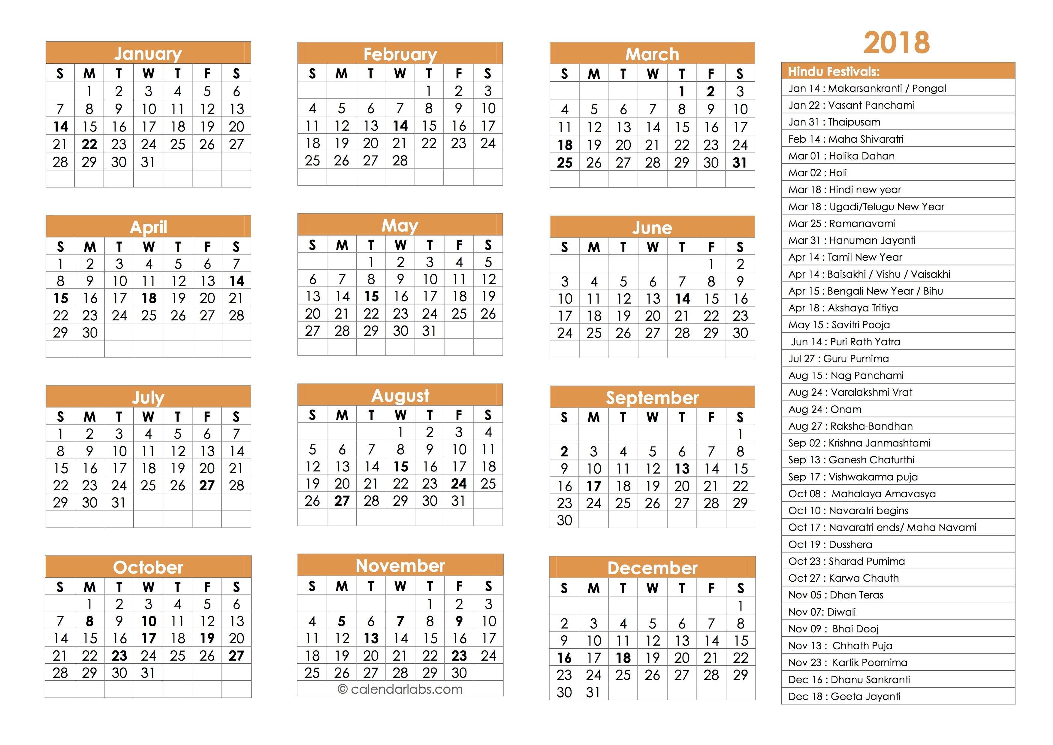 Hindu Calendar 2018 - Tithi, Holidays, Festivals - Calendar-Gujarati Calendar 2020 January To December