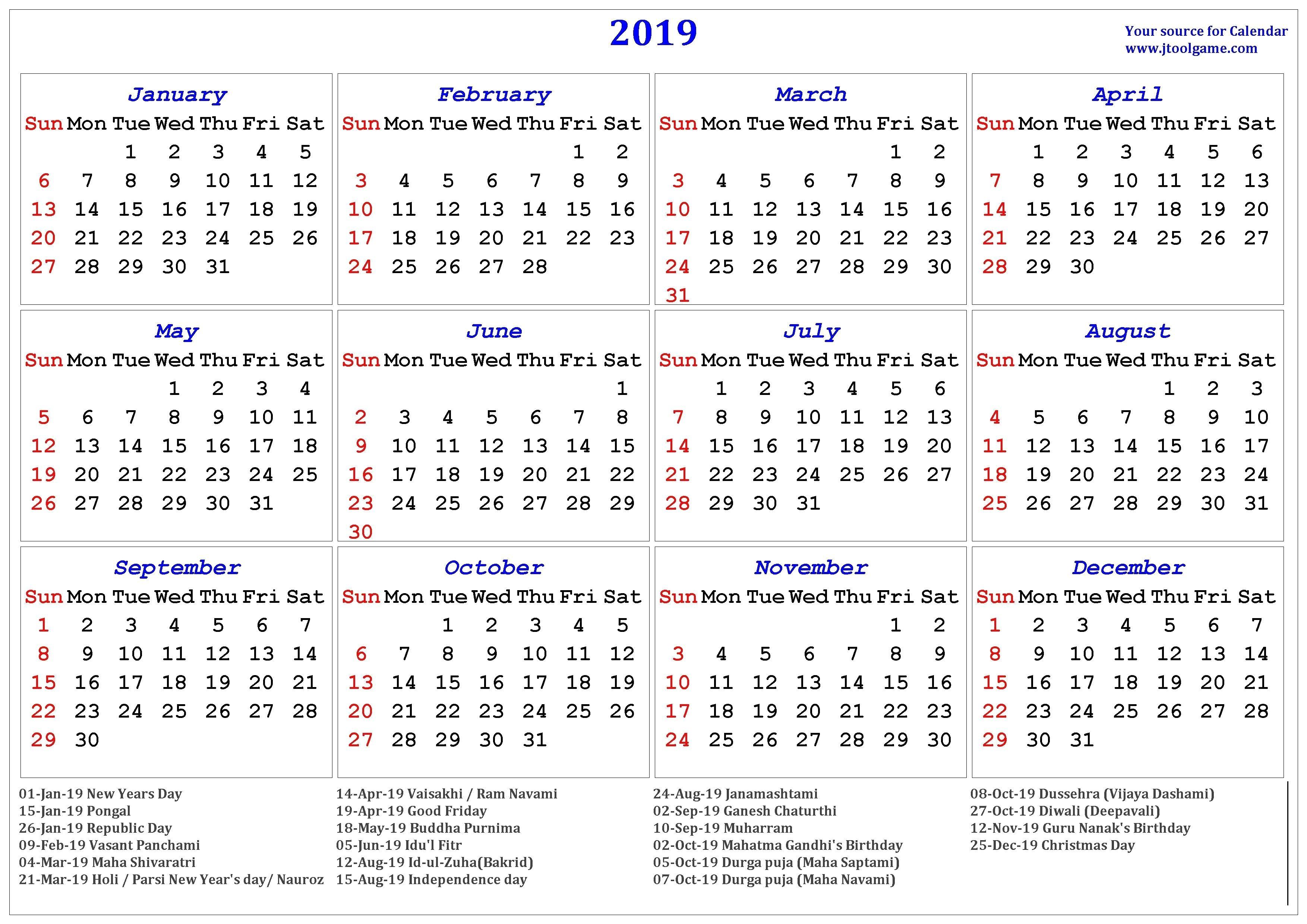 Hindu Calendar 2019 | Jcreview-January 2020 Calendar Pongal