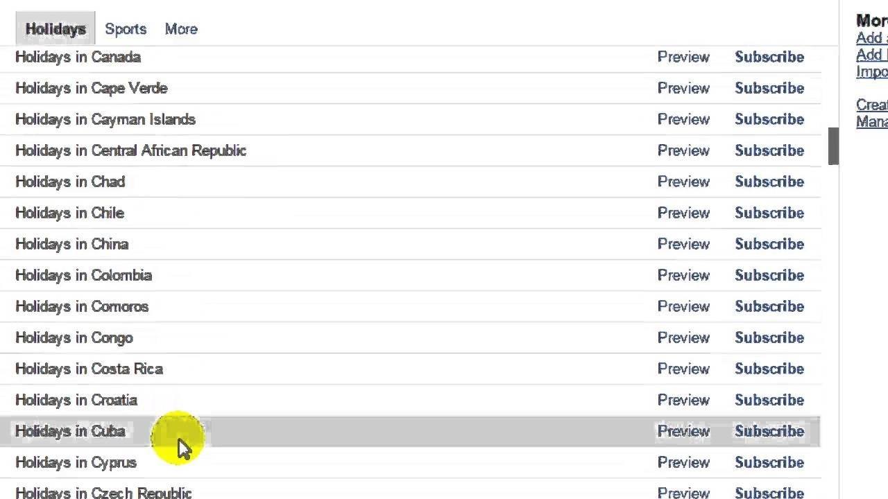 How To Add Country Holidays In Google Calendar-Samsung Calendar Remove Holidays