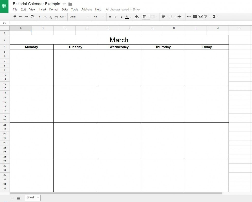 How To Create A Free Editorial Calendar Using Google Docs-Shareable Calendar Template Google Drive