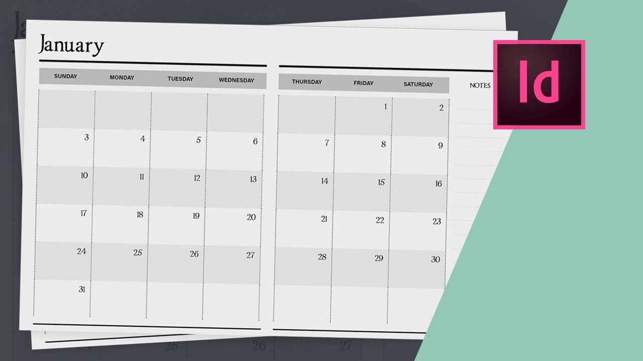 How To Design A Planner In Indesign - Calendar Design // Part Two-Planner Templates For Indesign