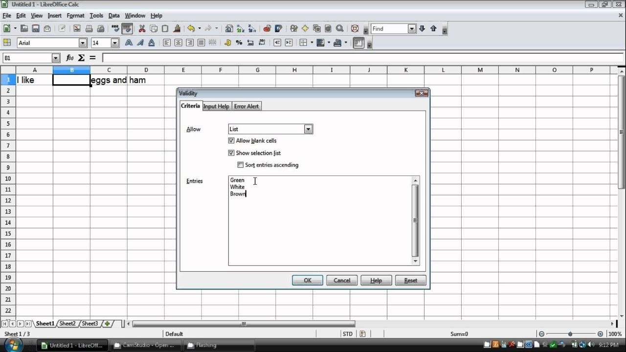 How To Make A Drop Down List In Openoffice/libreoffice Calc-Libre Office Monthly Bill Calendar