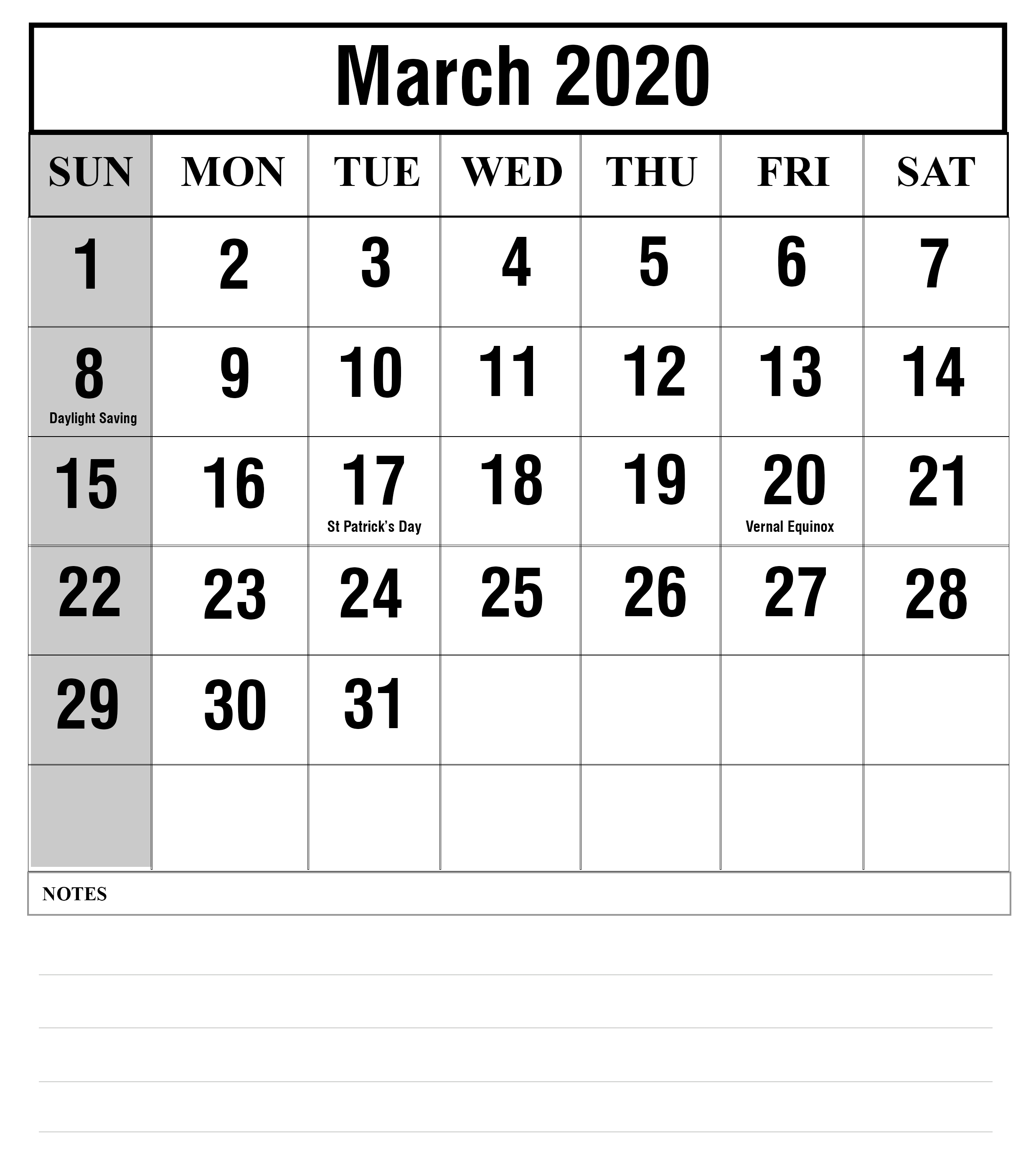 How To Schedule Your Month With March 2020 Printable-Printable Monthly 5 Day Calendar 2020