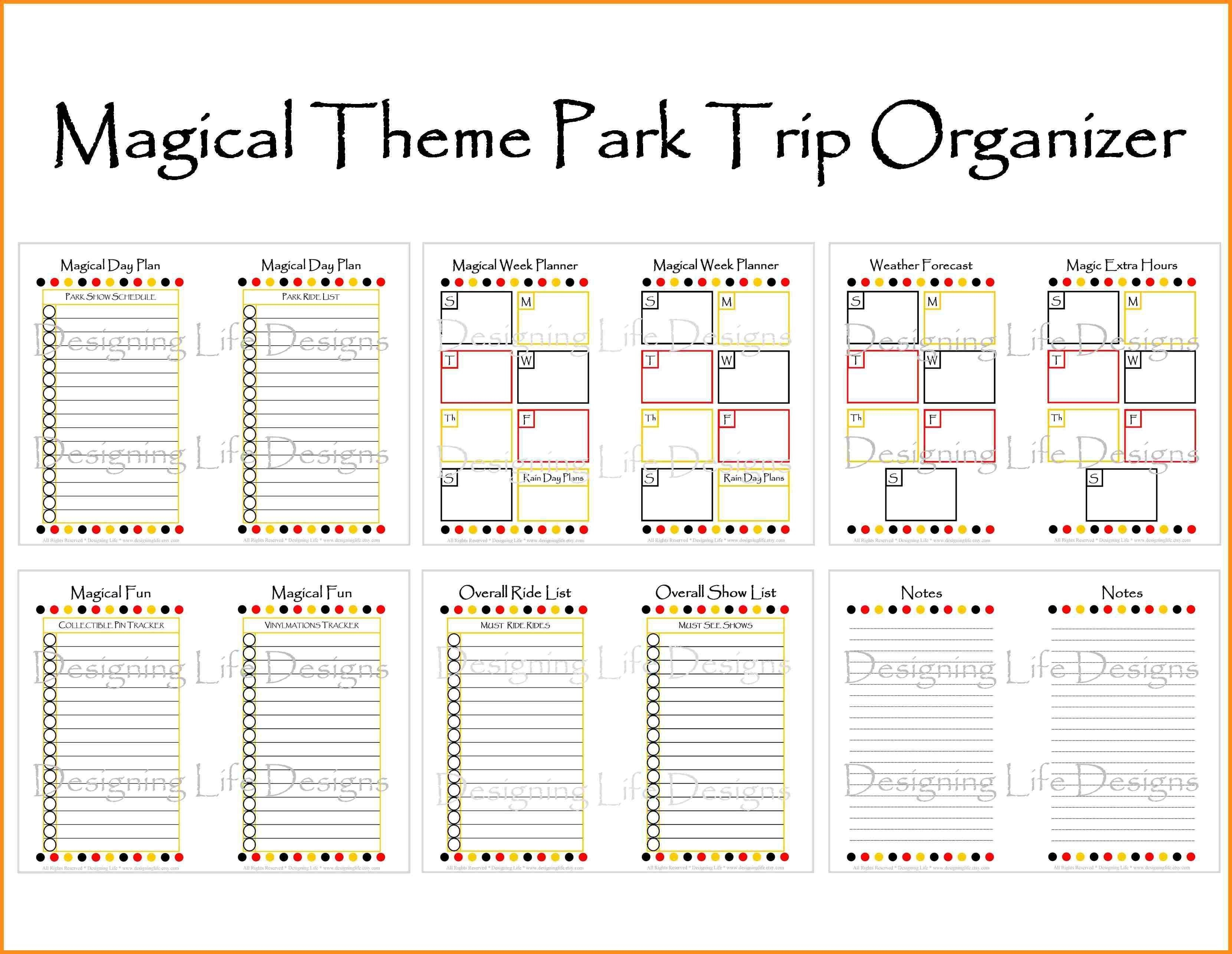 Image Result For Disney World Itinerary Template | Disney-Free Printable Disney Itinerary Template