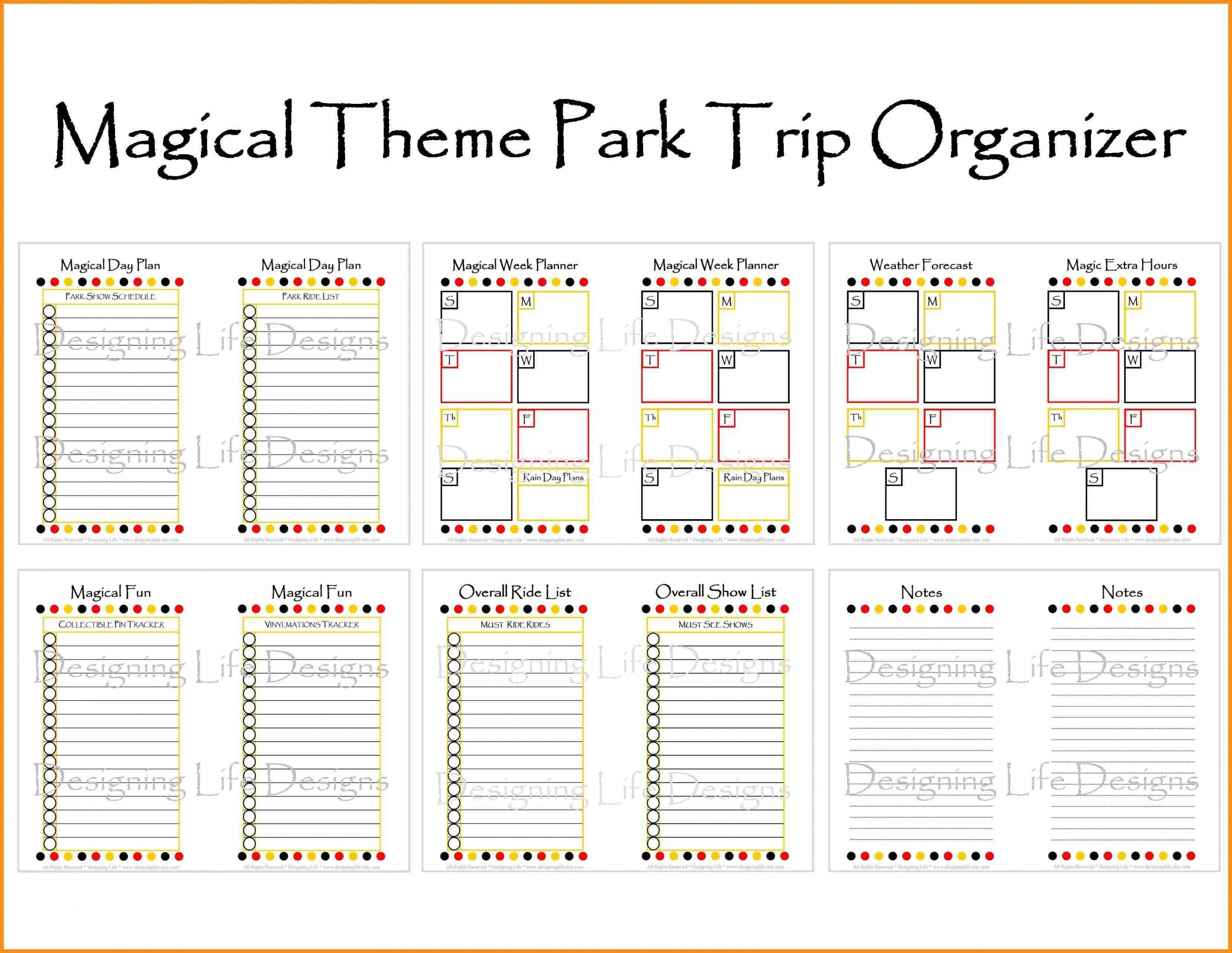Image Result For Disney World Itinerary Template Disney Fun-Free Printable Disney Week Itinerary Template