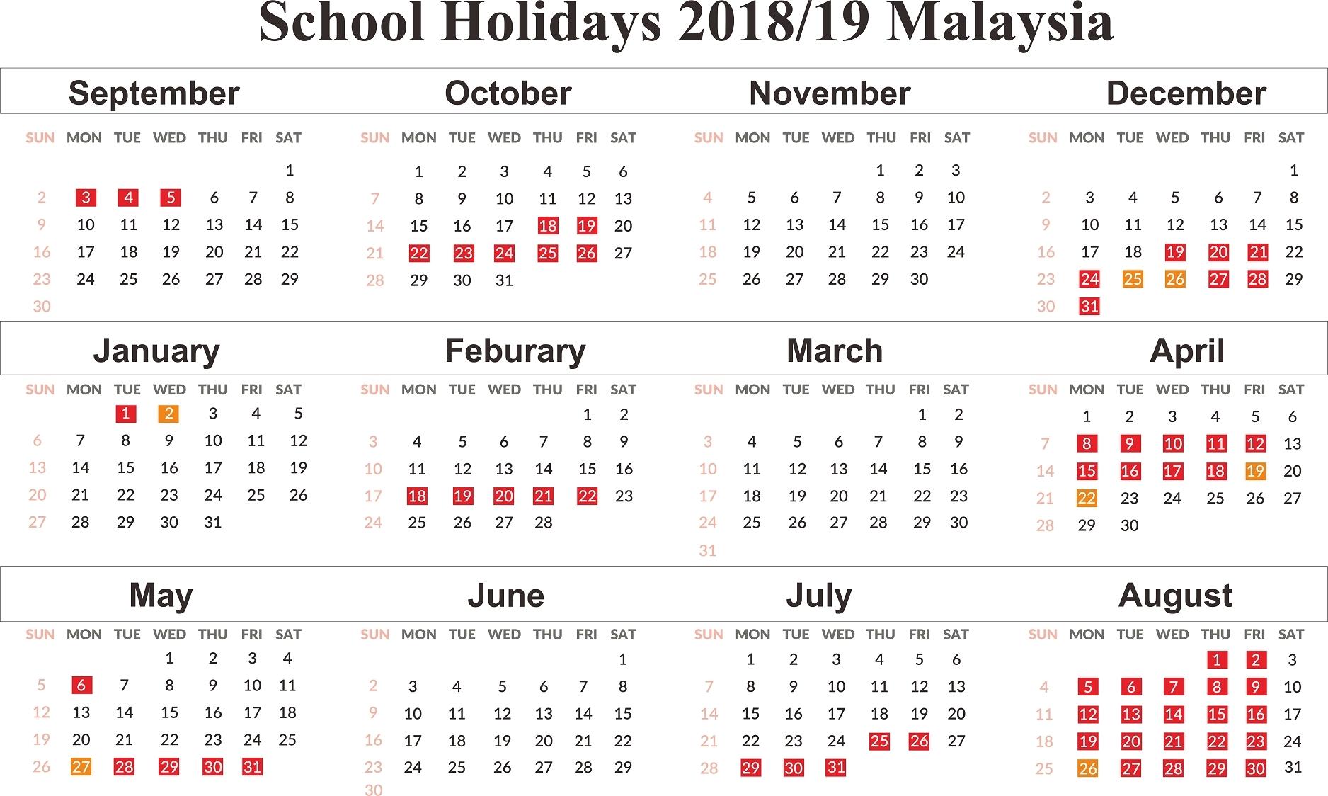 Impressive 2020 Calendar Malaysia School Holiday • Printable-Printable 2020 Calendar With Malaysian Holidays