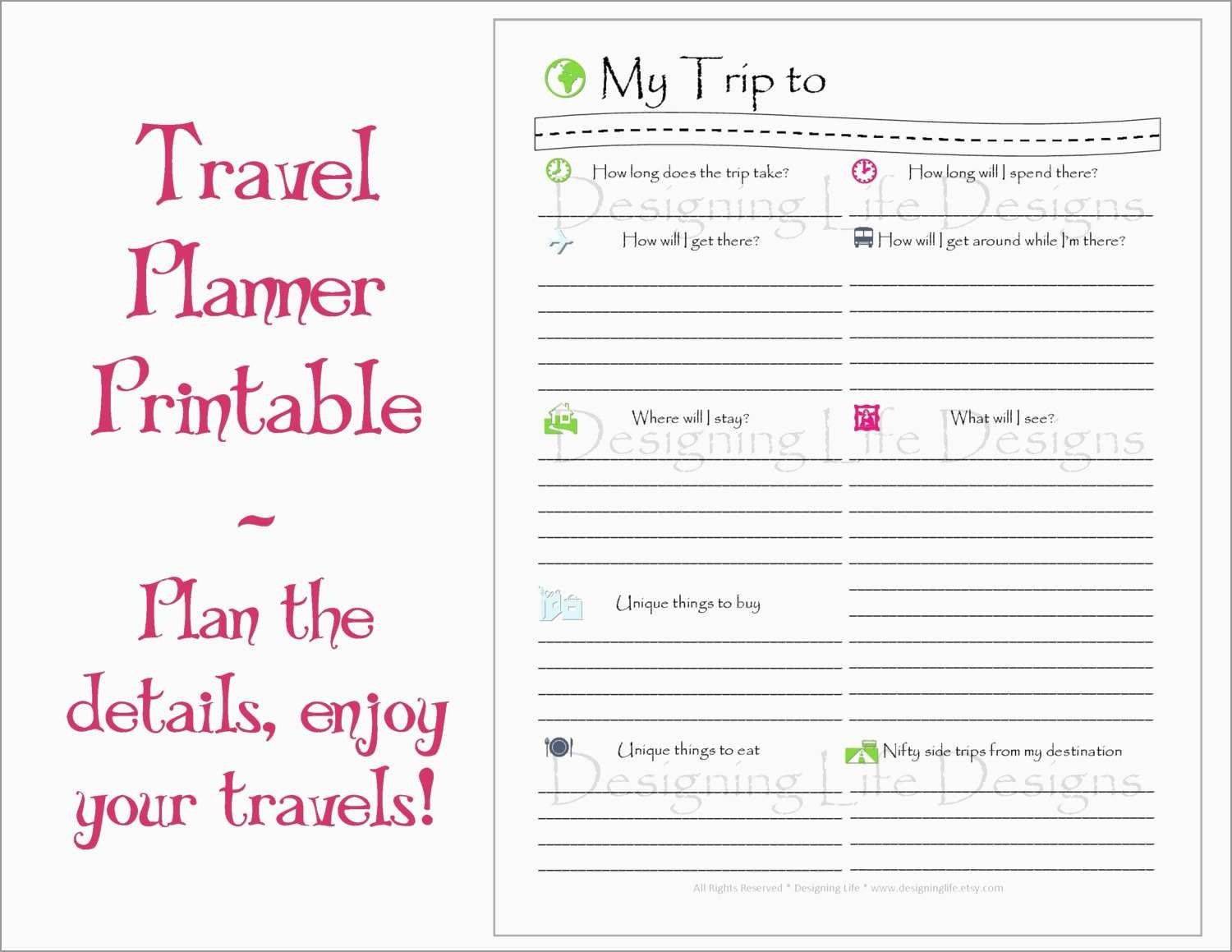 Inspirational Free Travel Itineraryplate Best Of Lovely-Disney Week Blank Itinerary