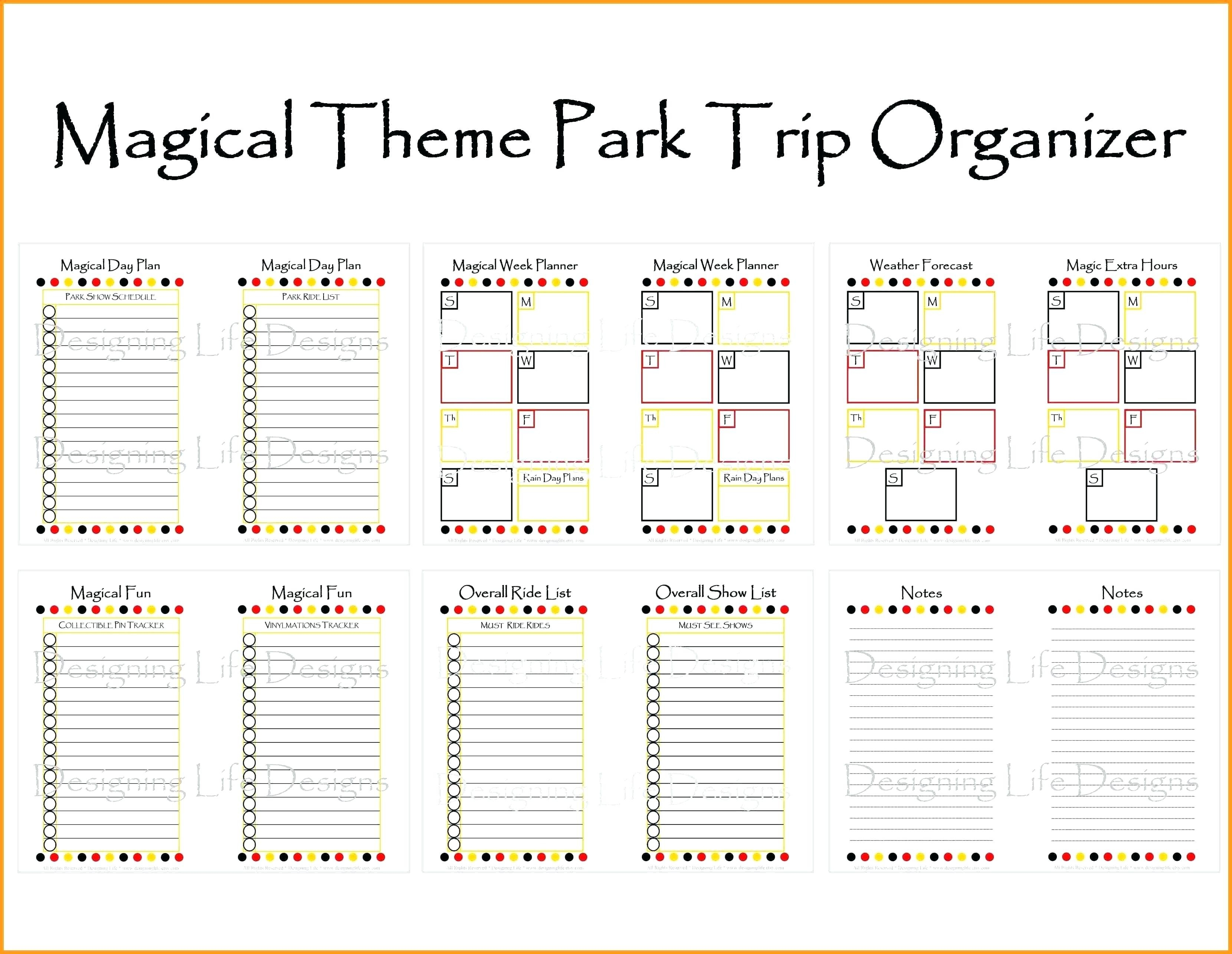 Itinerary Planner Template – Findpage.co-Fillable Itinerary Template Disney