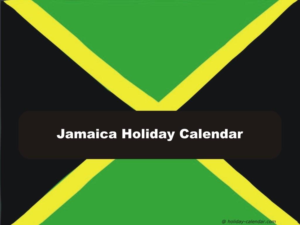 Jamaica 2019 / 2020 Holiday Calendar-Jamaica Public Holidays 2020 Printable