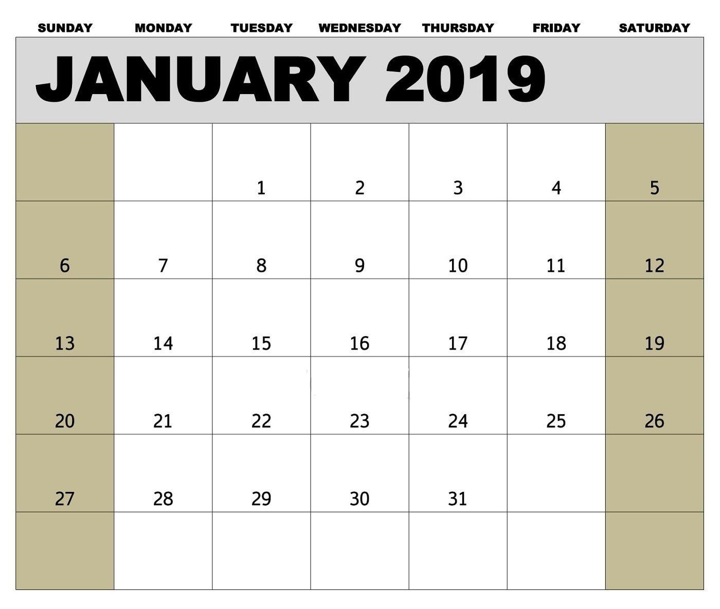January 2019 Biweekly Payroll Calendar Template For-2020 Biweekly Pay Calendar Word Template