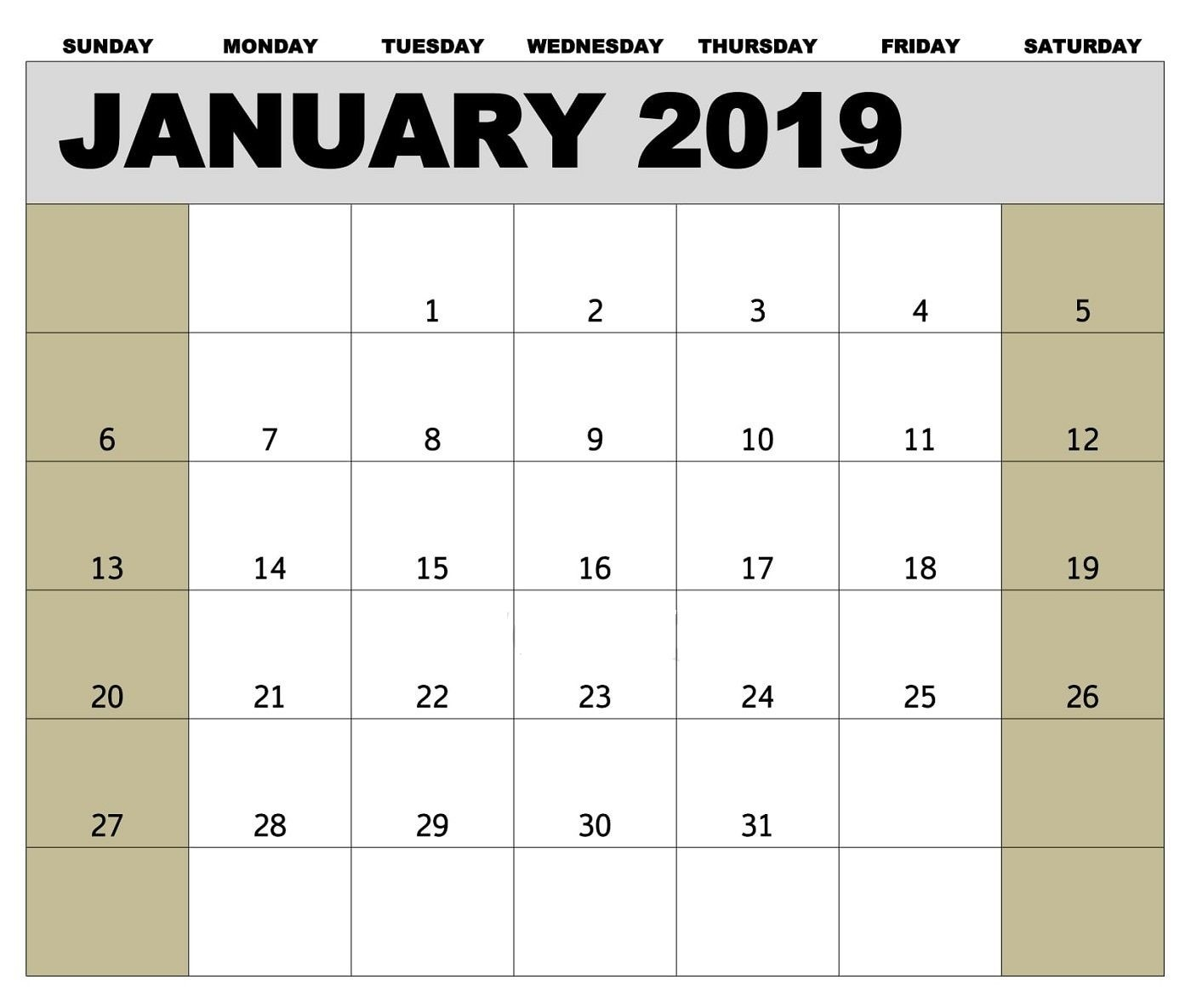 January 2019 Biweekly Payroll Calendar Template For-Bi Weekly Pay Schedule 2020 Template