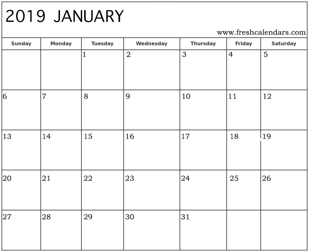 January 2019 Calendar Printable - Fresh Calendars-Waterproofpaper.com January 2020 Calendar