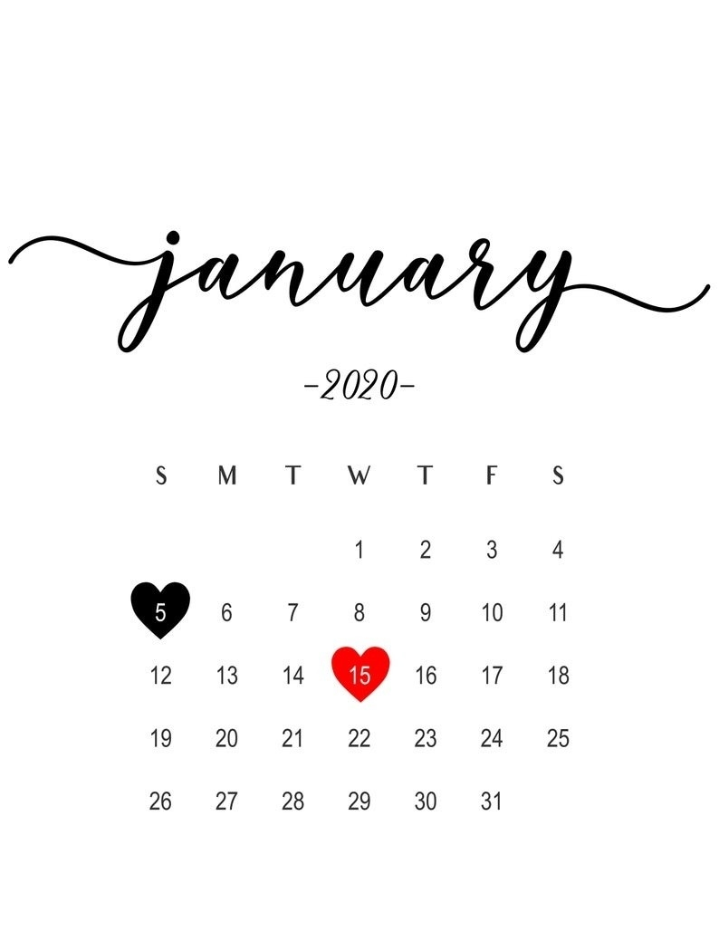 January 2020 Calendar Baby Announcement » Creative Calendar-January 2020 Calendar Baby Announcement