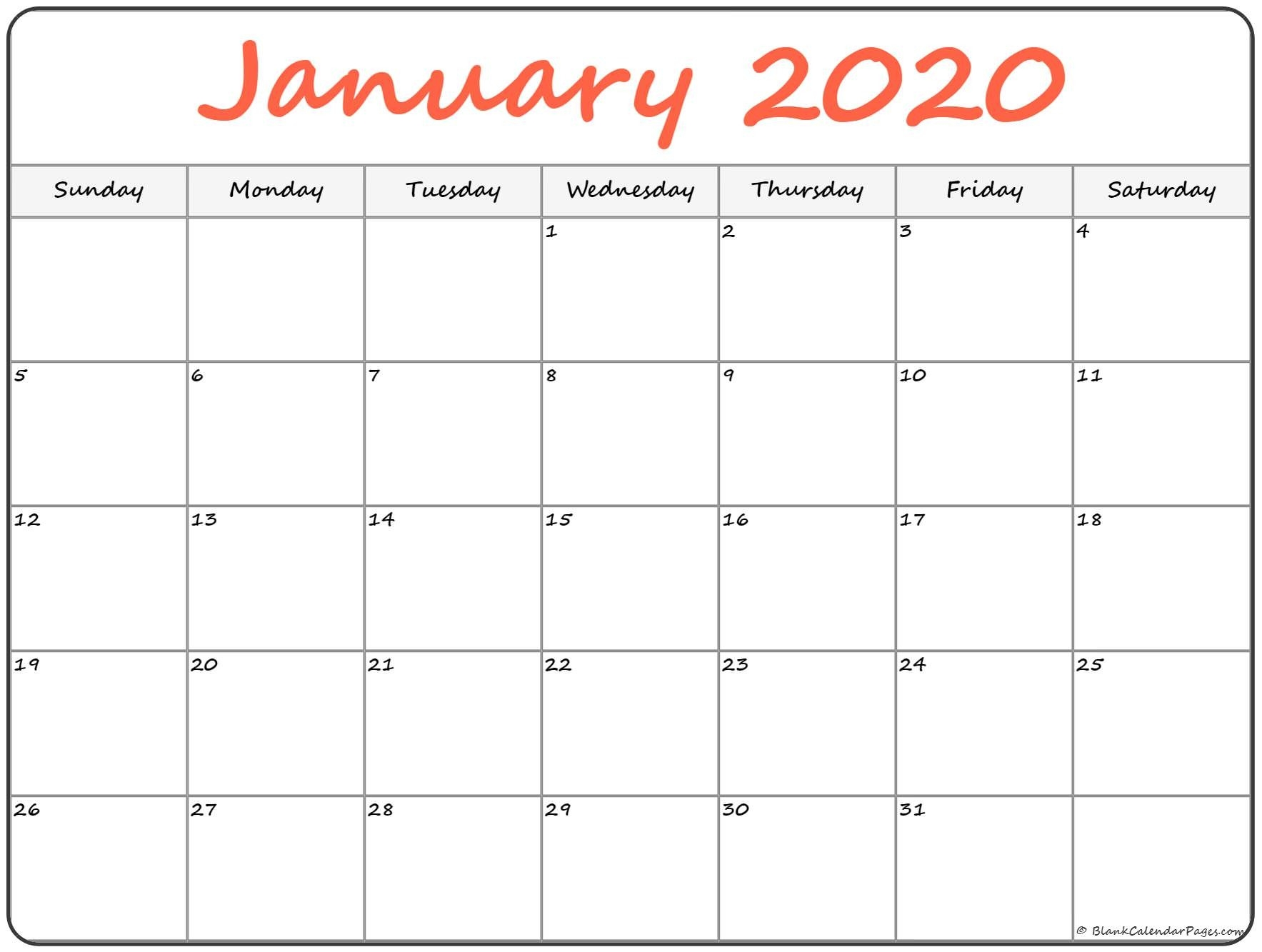 January 2020 Calendar | Free Printable Monthly Calendars-Show January 2020 Calendar