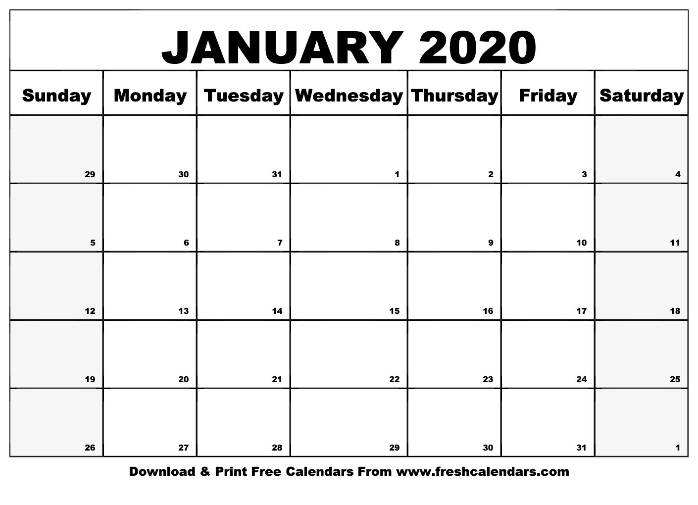 January 2020 Calendar Printable - Fresh Calendars-January 2020 Calendar In Excel