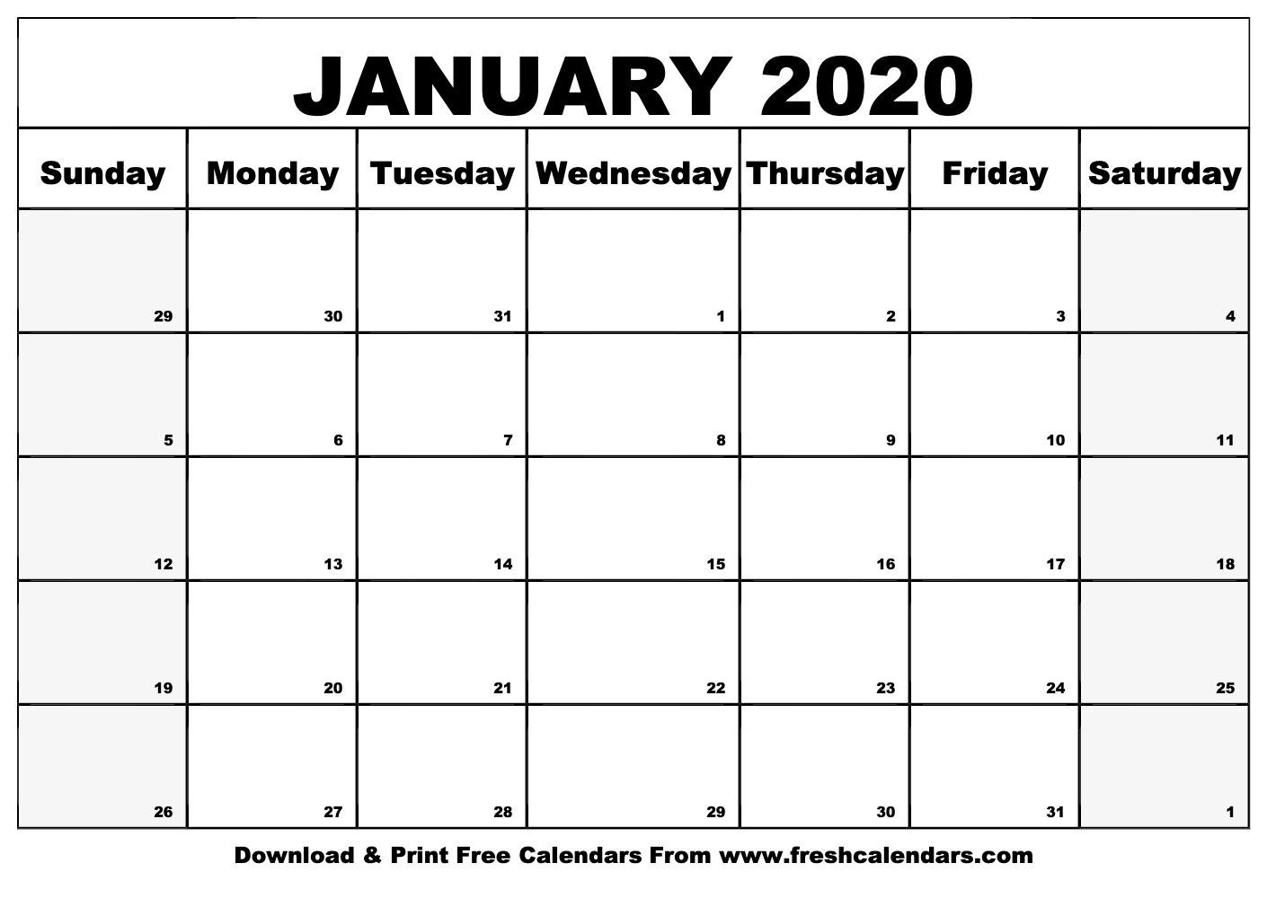 January 2020 Calendar Printable - Fresh Calendars-January 2020 Calendar In Excel
