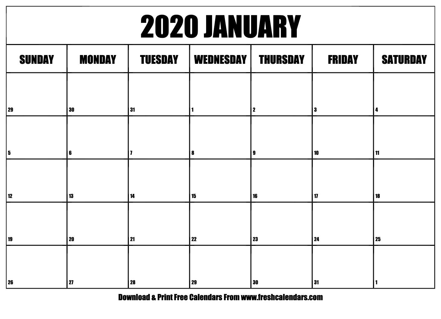 January 2020 Calendar Printable - Fresh Calendars-January 2020 Calendar Xl